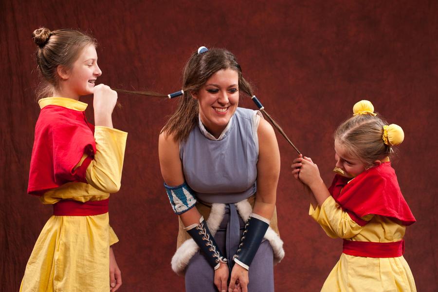 The Airbender Sisters and Korra 3 by ScissorWizardCosplay