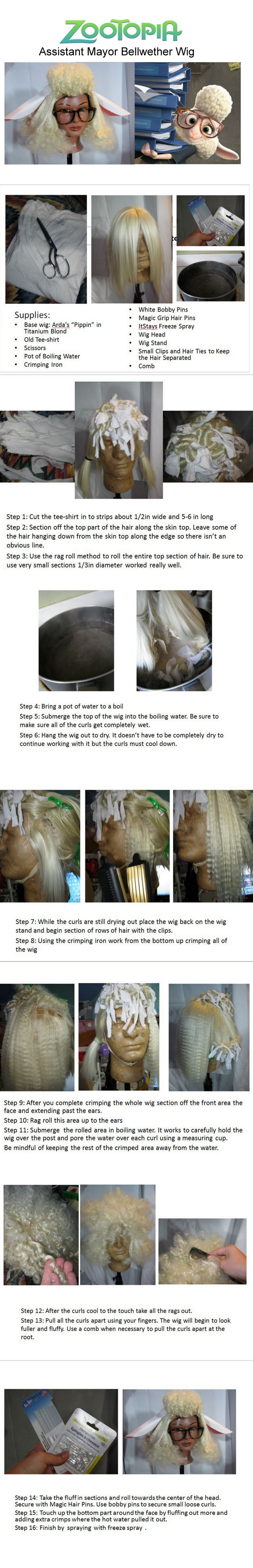 Bellwether Wig Tutorial