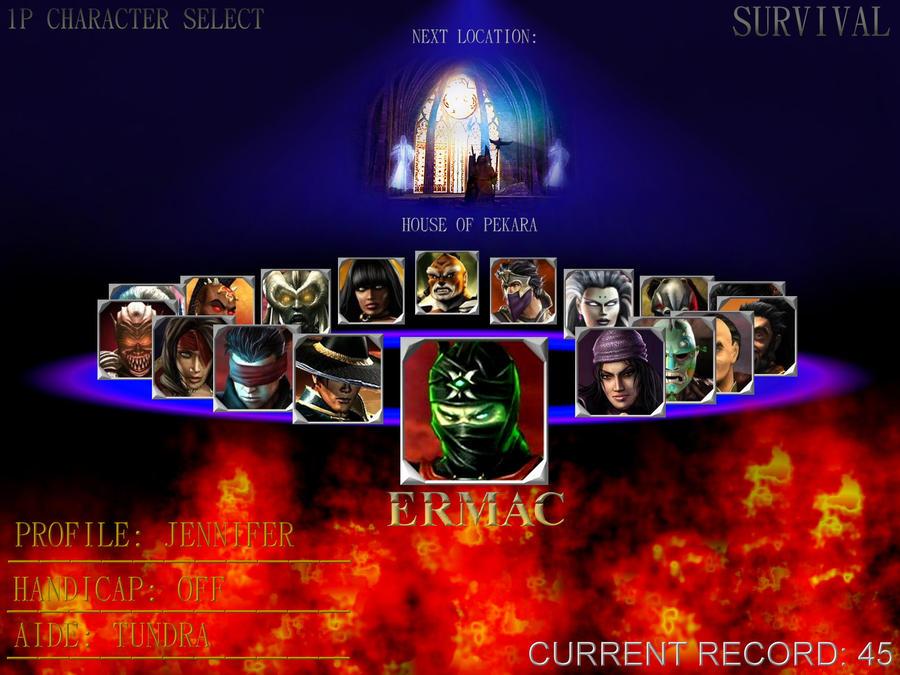 Mortal Kombat Character Select by MakhailRasputin