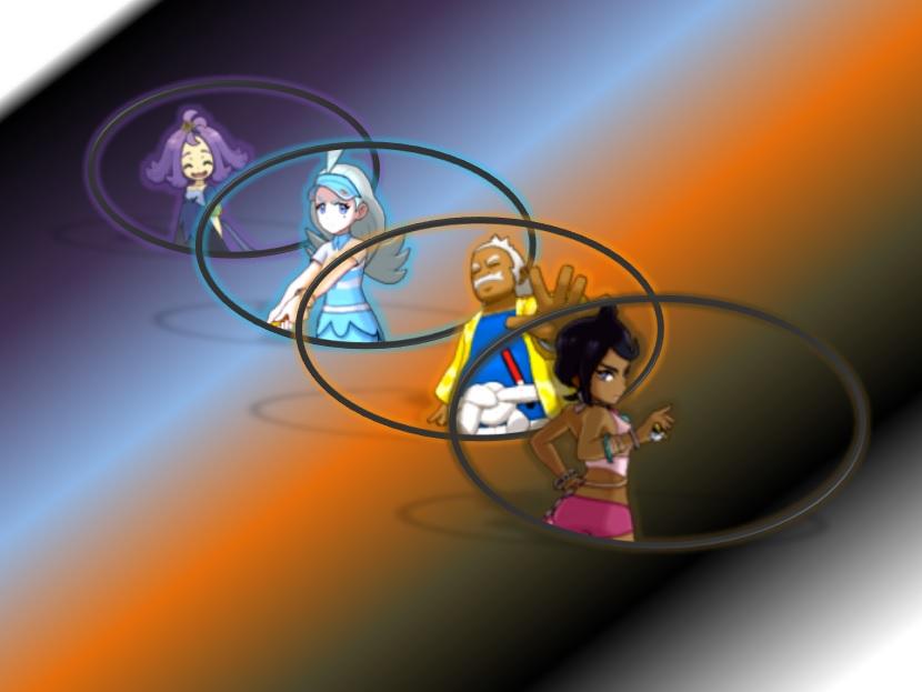 pokemon sun and moon elite four wallpaper by makhailrasputin on