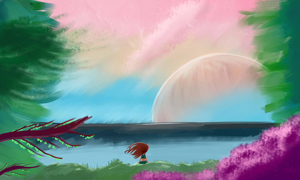 A Setting Sky by StrawberryCocoa