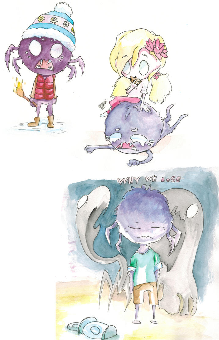 Don't Starve Doodles by StrawberryCocoa