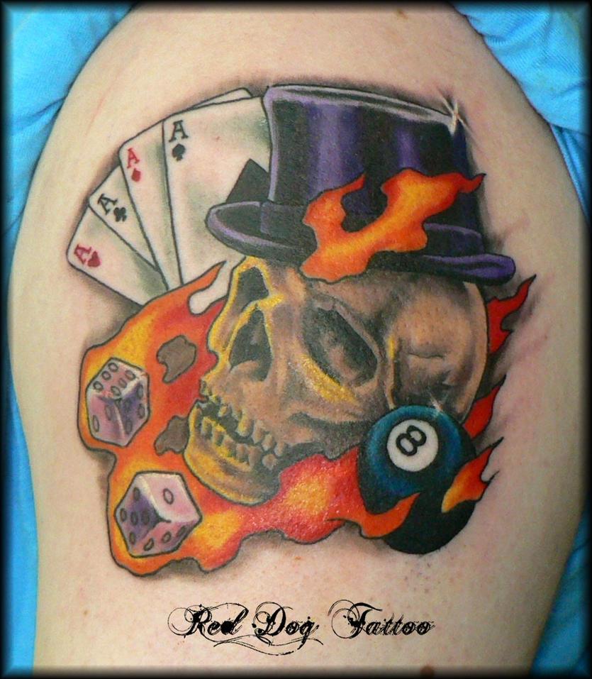 Johns Skull Tattoo by