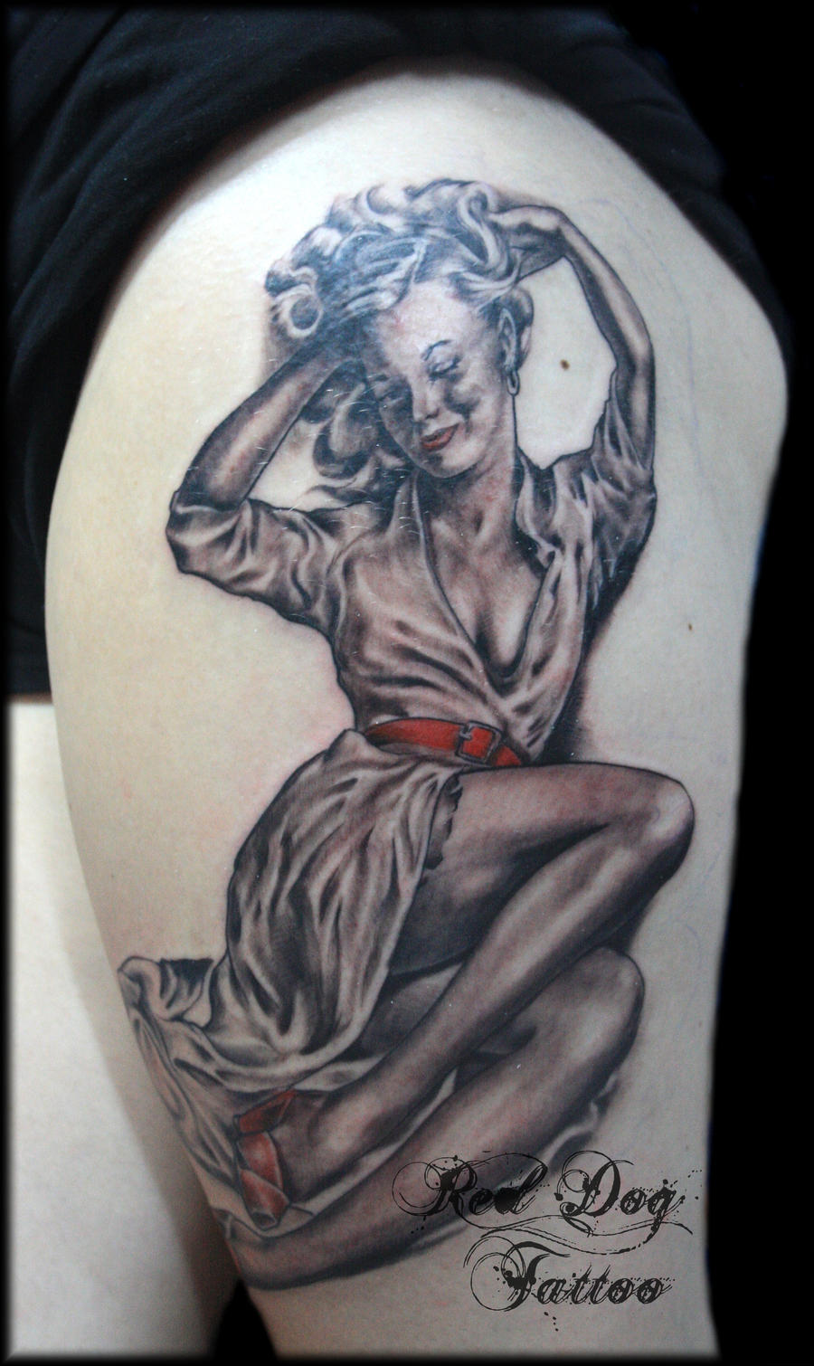 Sam's pinup by Reddogtattoo