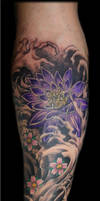 Lotus and Water by Reddogtattoo