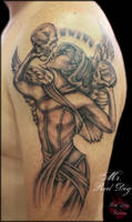 Angel with Skulls by Reddogtattoo