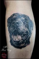 Dog portrait by Reddogtattoo