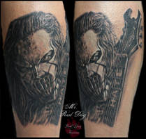 Mike Thomson from Slipknot by Reddogtattoo