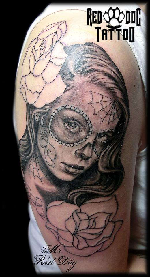 Day of the Dead on Process by Reddogtattoo