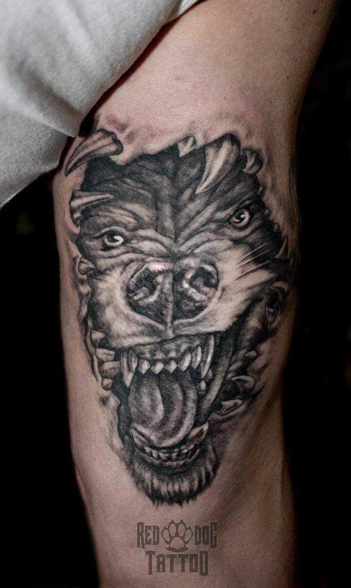 Wolf tattoo by reddogtattoo on deviantart for Red wolf tattoo