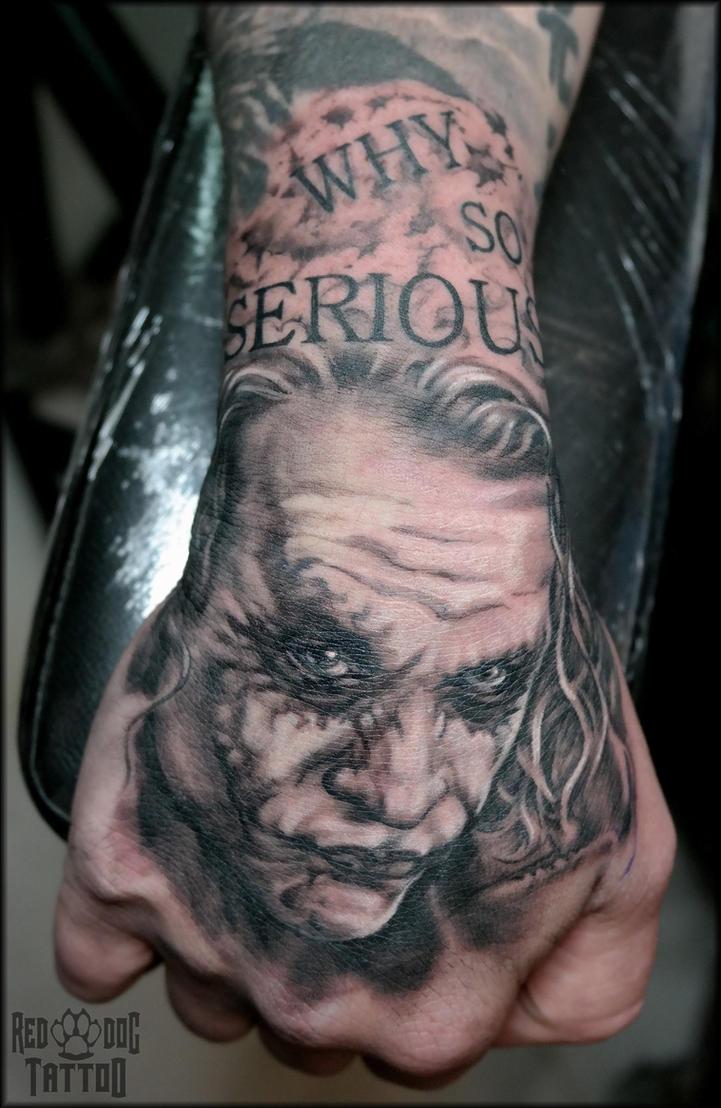 The Joker Tattoo by Reddogtattoo
