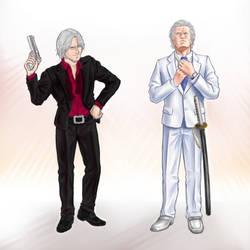 Formal Dante and Vergil by fluffsnake