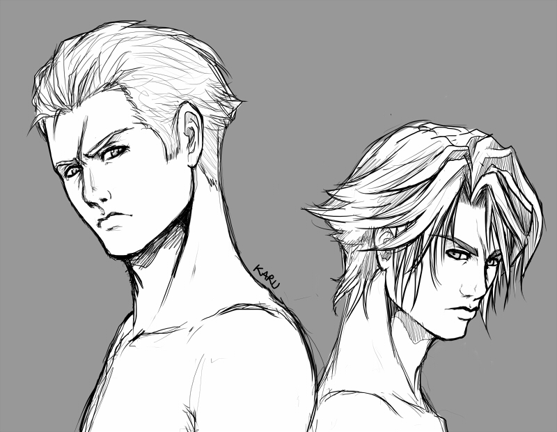 Seifer n' Squall by karulox
