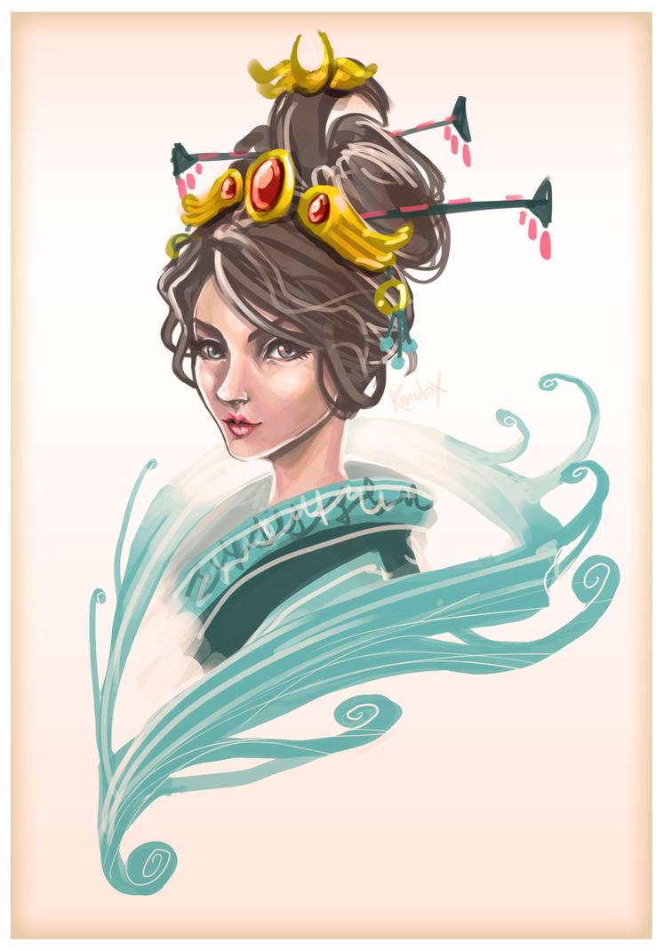 Chang e the moon goddess - SMITE by karulox