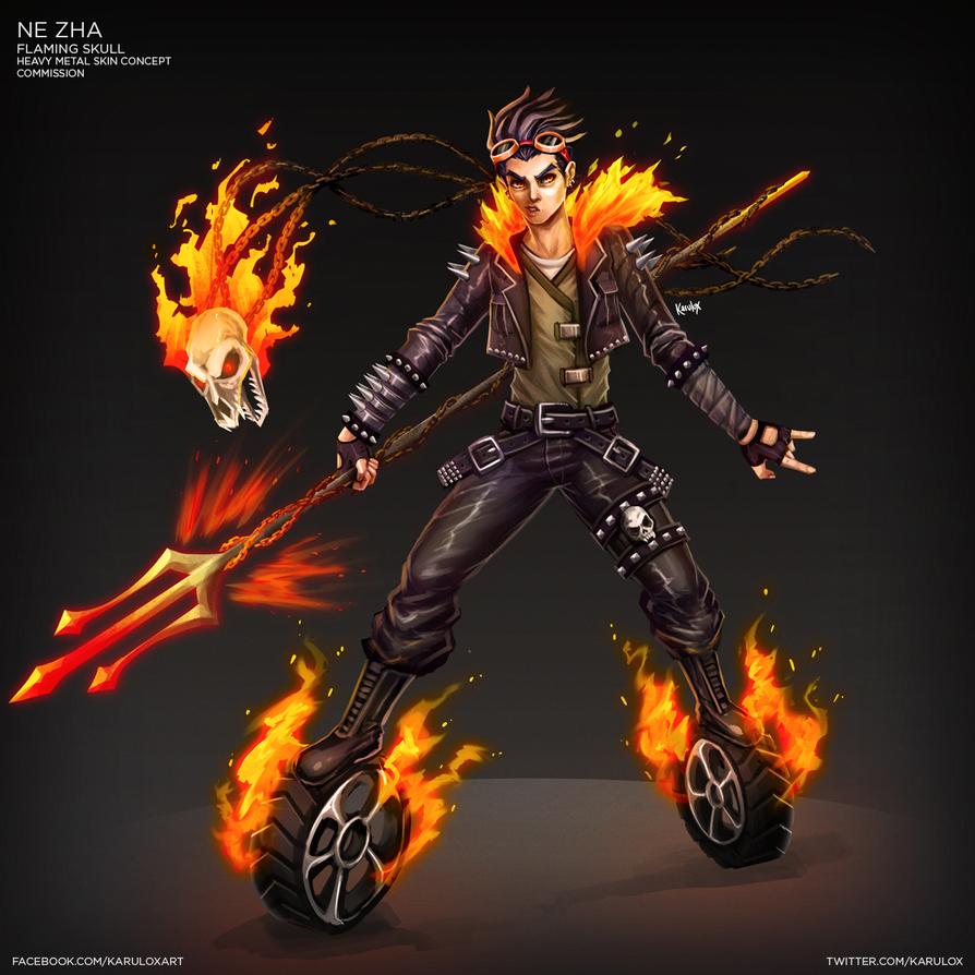 Ne Zha Heavy Metal Skin Concept by karulox