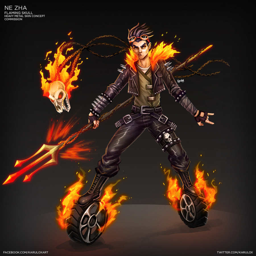Ne zha heavy metal skin concept by karulox on deviantart for Concept metal
