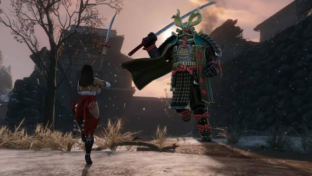 Shrine Maiden VS the Oni King