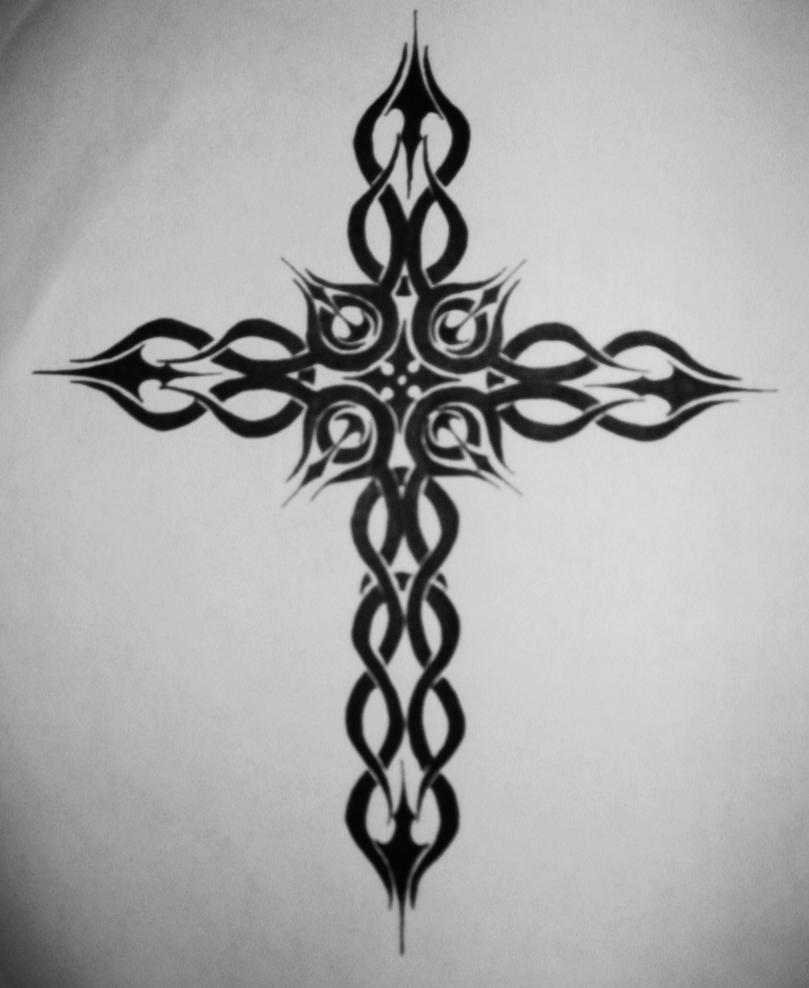 Henna Cross Tattoo Designs Simple