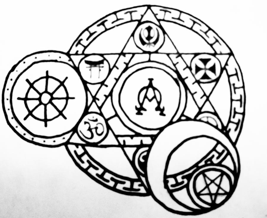 Arcane Religious Circle Tattoo By Thecrimsonseas On Deviantart