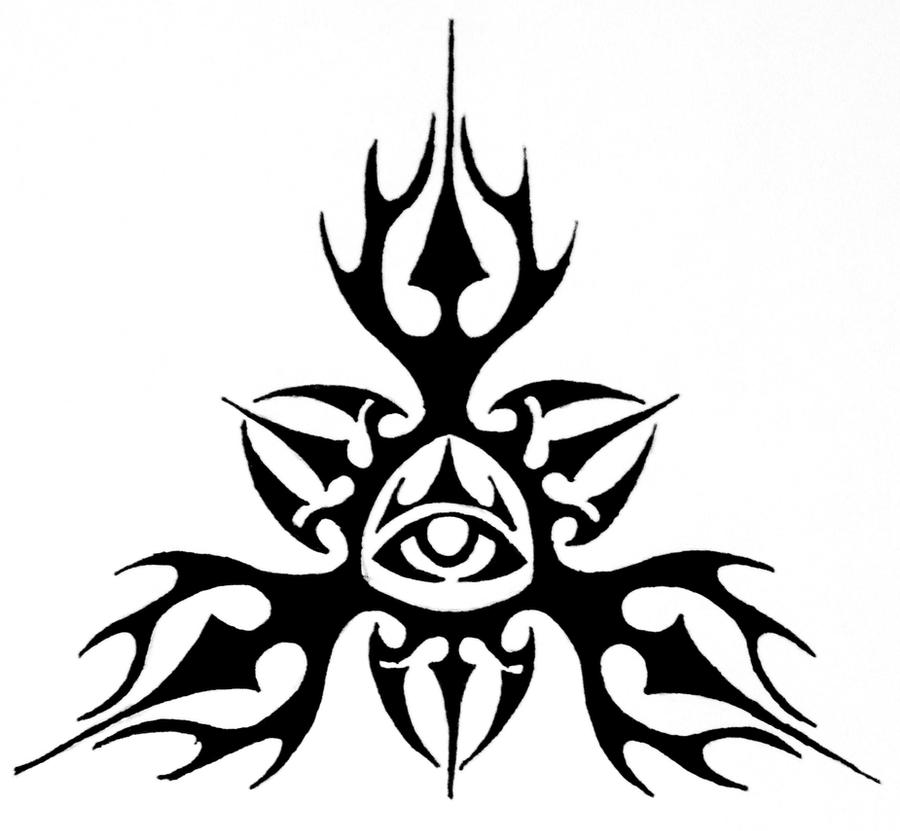 Tribal All Seeing Eye Design By Thecrimsonseas