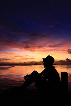 enjoying the twilight