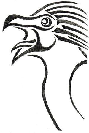 Screaming Eagle Tribal-art by Weaurufu