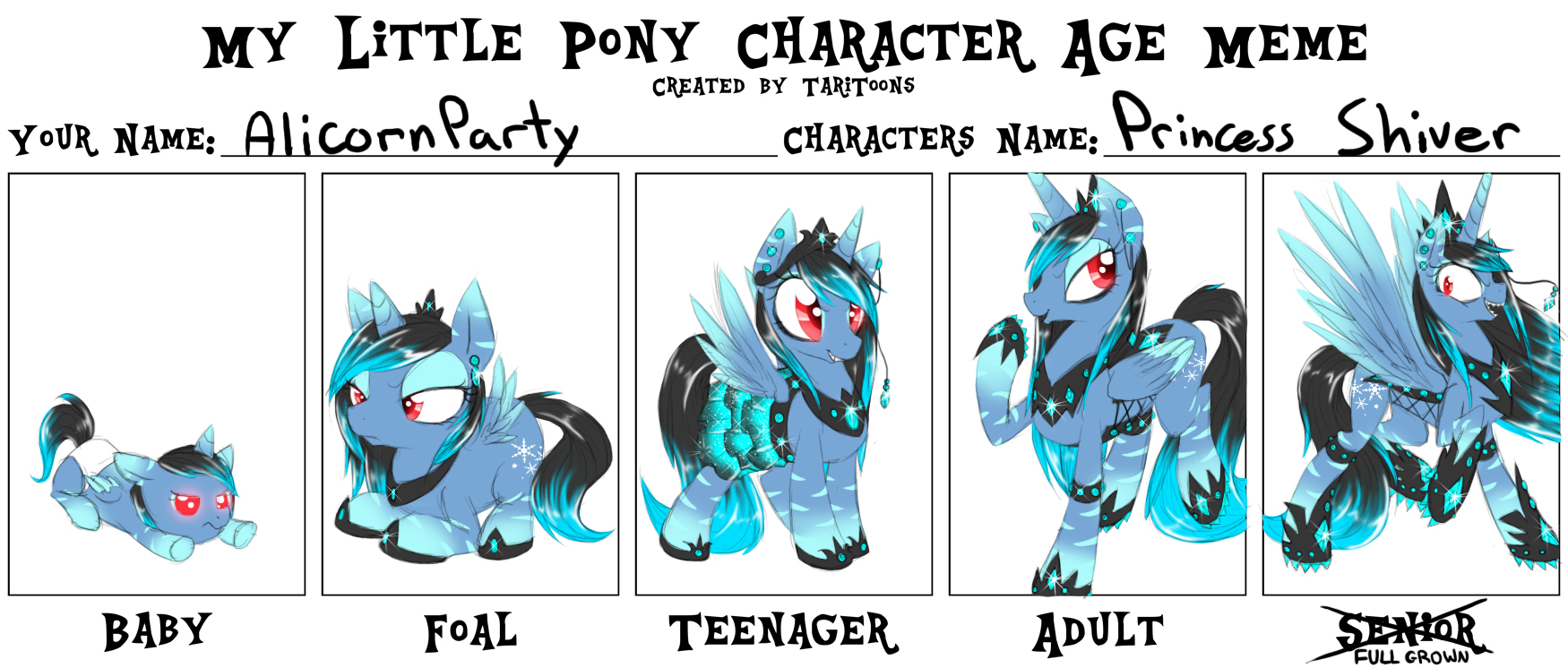 Character Design Meme : Mlp character age meme by alicornparty on deviantart