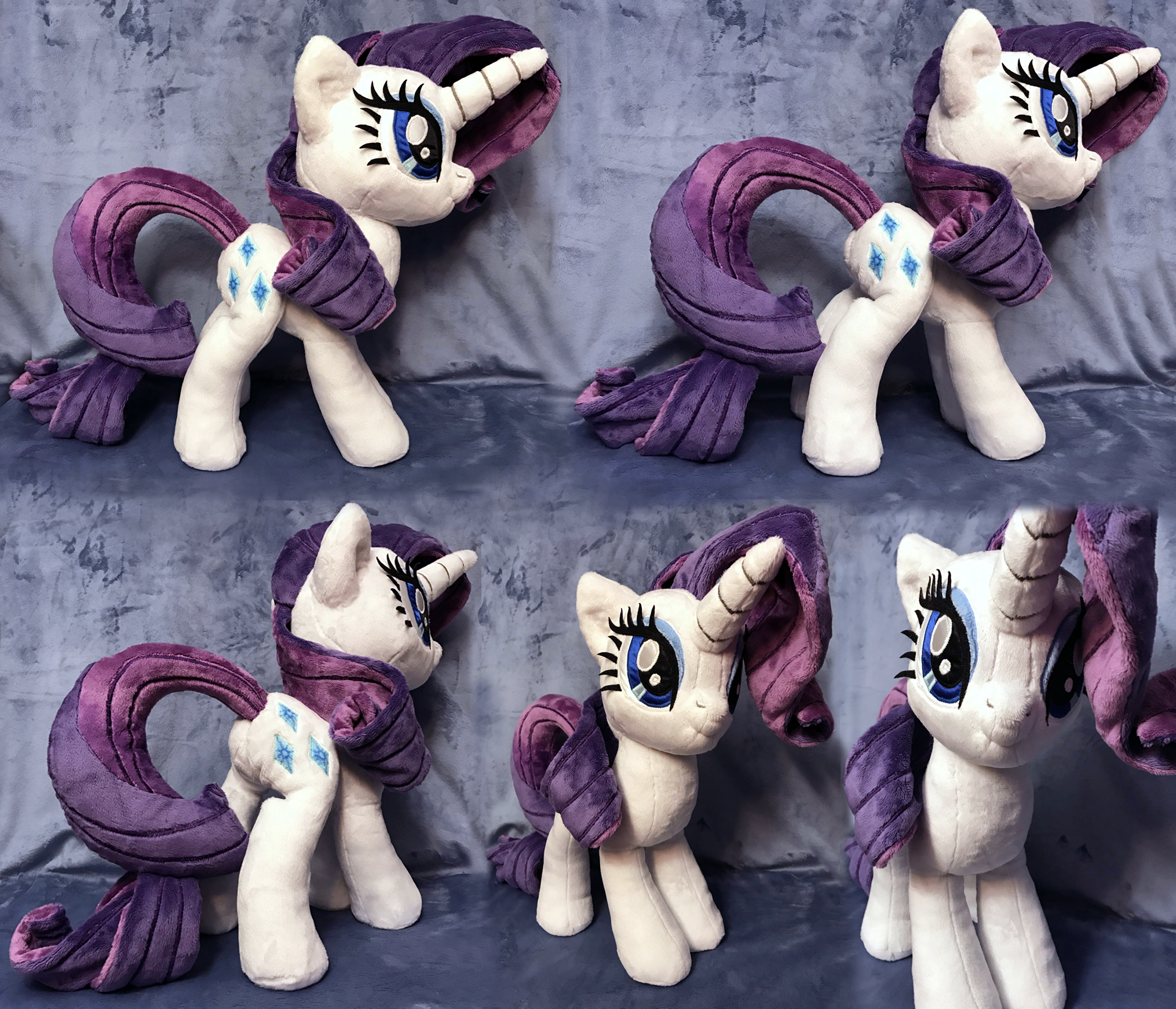 Rarity Plush .: SOLD :. by AlicornParty