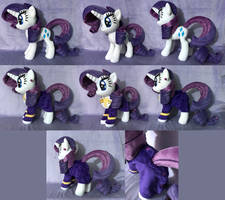 Rarity Plush Commission by AlicornParty