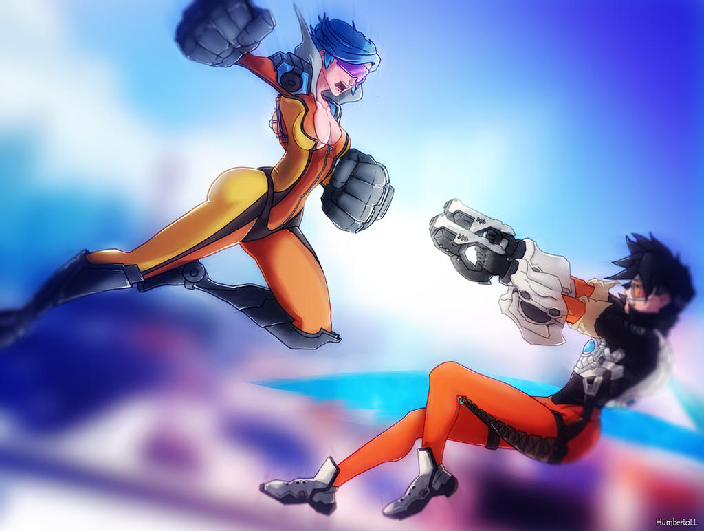 Neon Strike Vi vs Tracer by humberto-max on DeviantArt