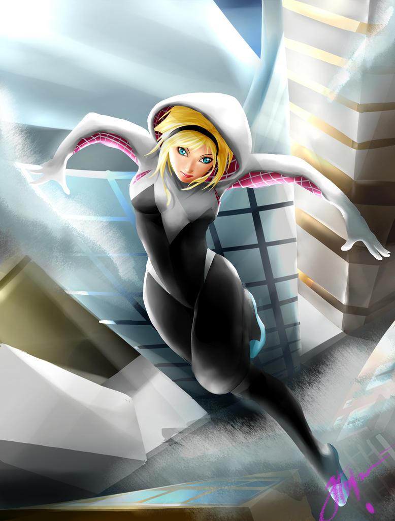 Spider-Gwen by Rochefore