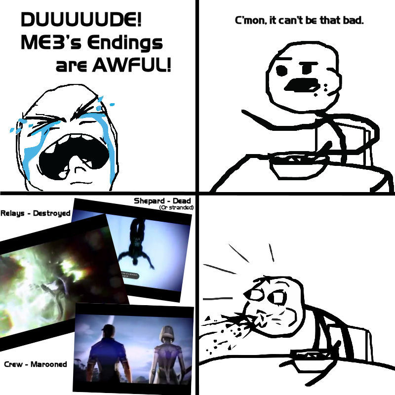 Cereal Guy finds out about ME3 (ENDING SPOILERS) by Feena-c