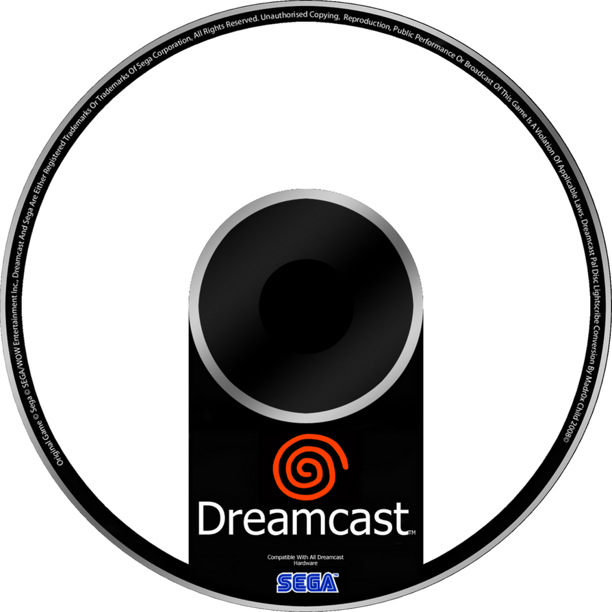 Nice Sega Dreamcast Custom Disc Template By Diego9000 ...
