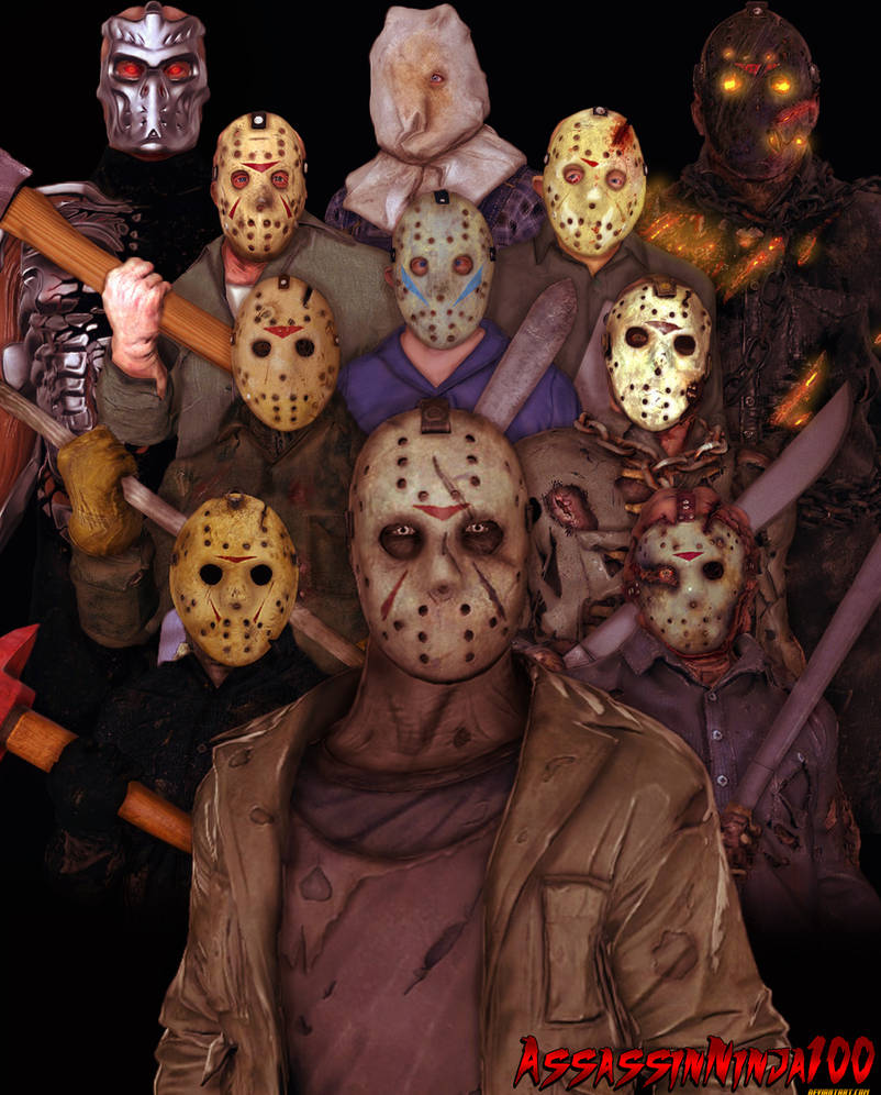 Many Faces Of Jason Voorhees By Assassinninja100 On Deviantart