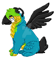 Menchie pixel by BlackWolfTala