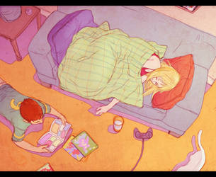 Nothing to do but sleep. by Samurai-PET