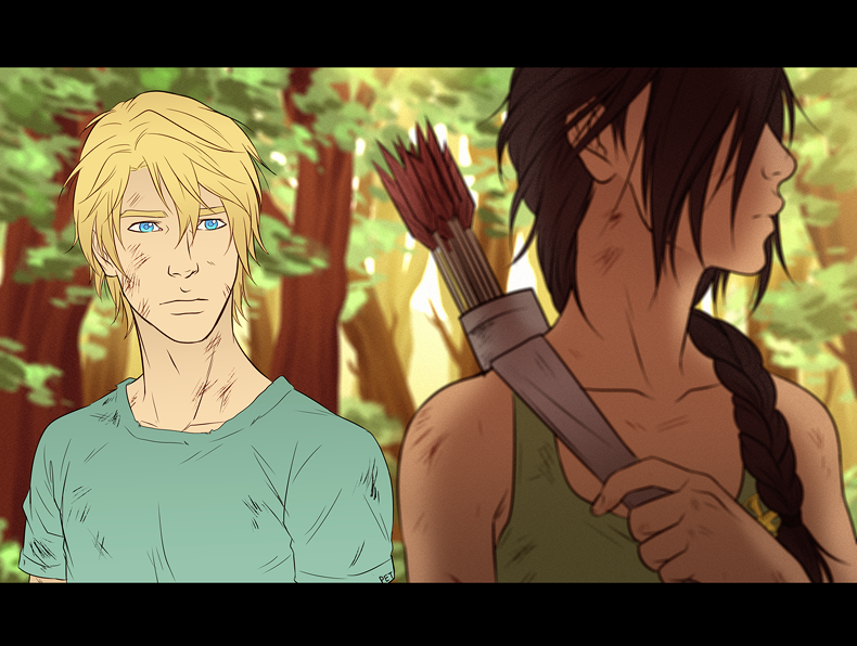 Together In the Games by Samurai-PET on DeviantArt  Katniss And Peeta Fan Art Love
