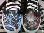 Alien versus predator shoes