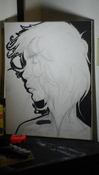Grey -sketch and outline-