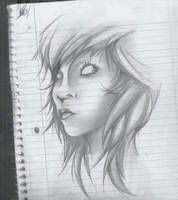 Sketch book girl 1 by K12RES