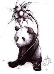 Panda in pen by K12RES