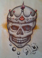 Skull commission by K12RES