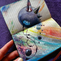 Mini sketch book character by K12RES