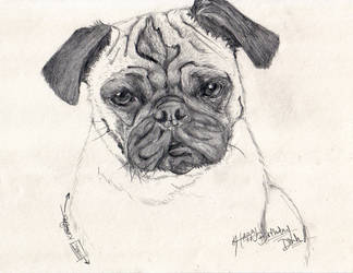 Pug Mug by yamirabbit