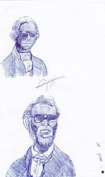 Presidents with glasses