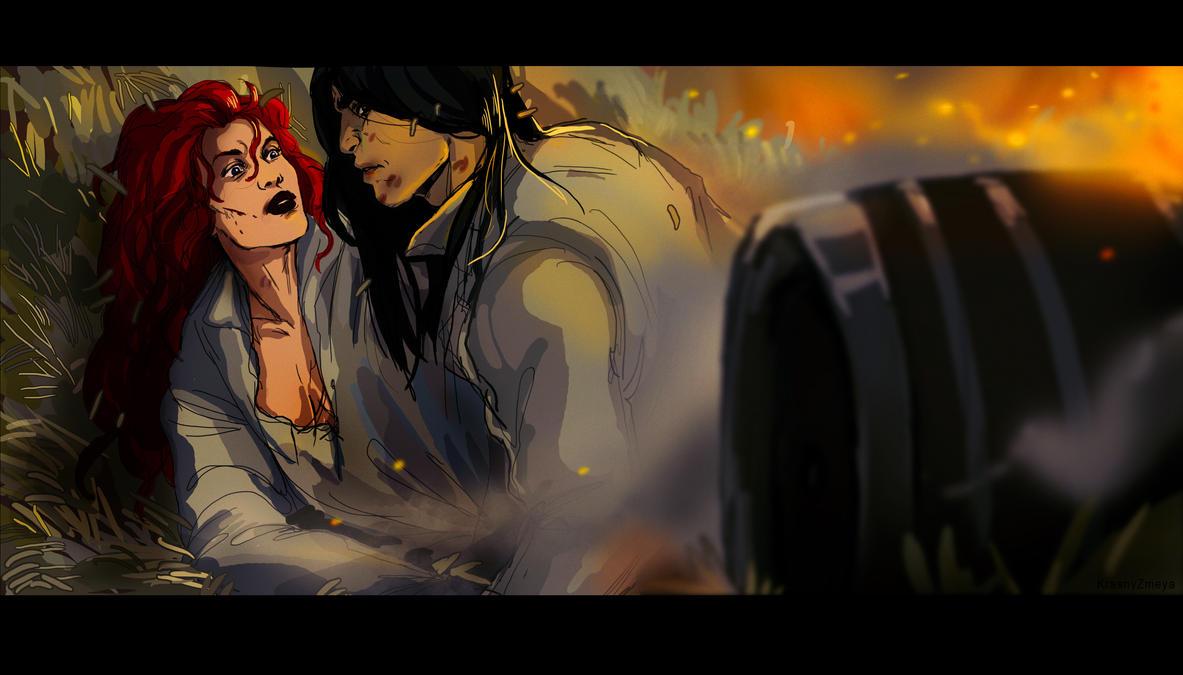 Duel, smoke and a barrel by KrasnyZmeya