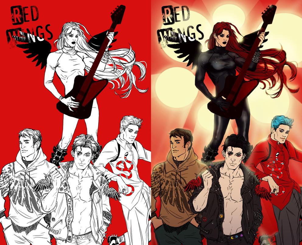 Red Wings by KrasnyZmeya