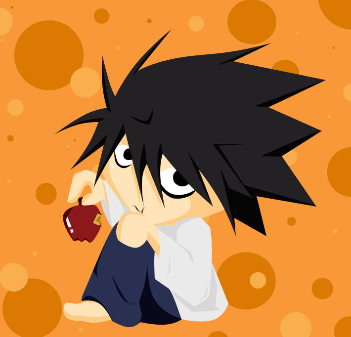 L eating a Apple by Kiba1296
