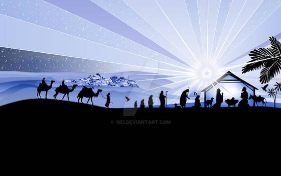vector christmas nativity