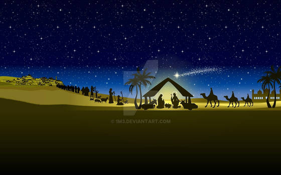 vector christmas nativity_02